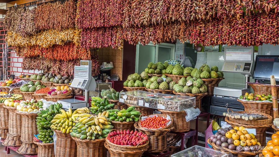 Farm markets fruits and spices