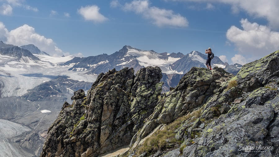 View of mountain peaks Austrian Alps Photography