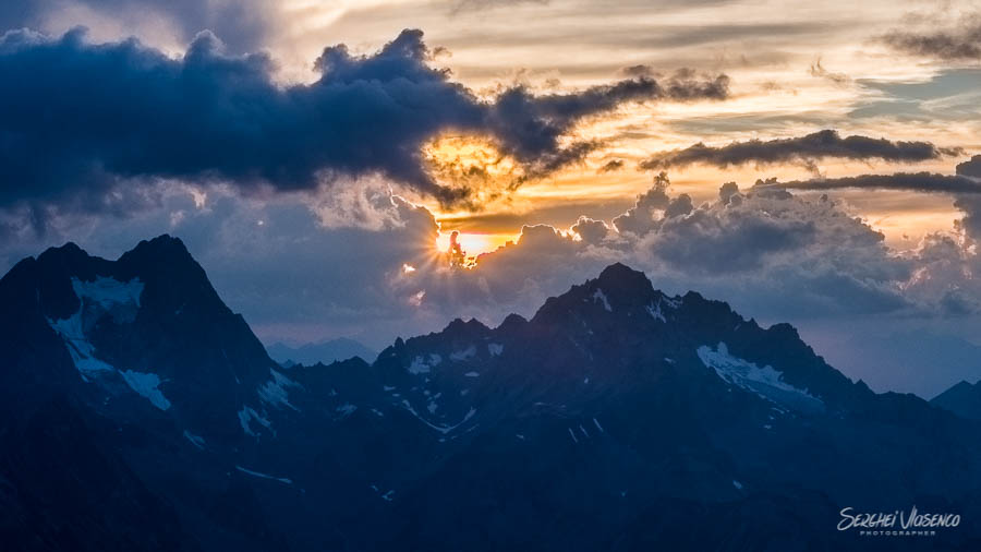 Sunset in the mountains Austrian Alps Photography