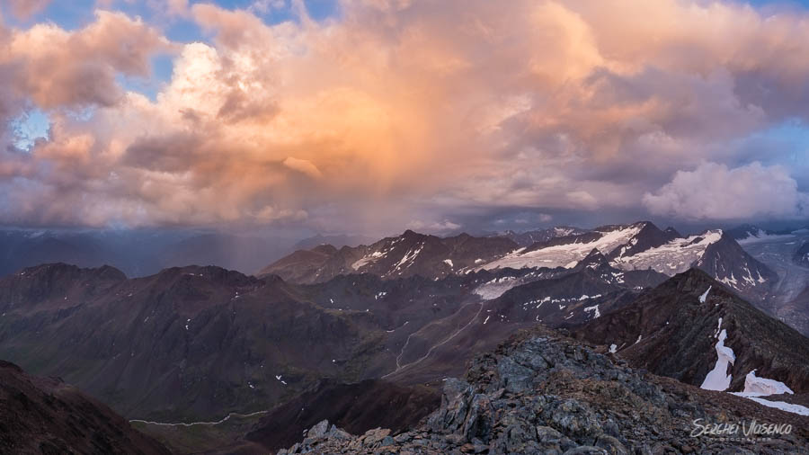 Colorful clouds in the mountains Austrian Alps Photography