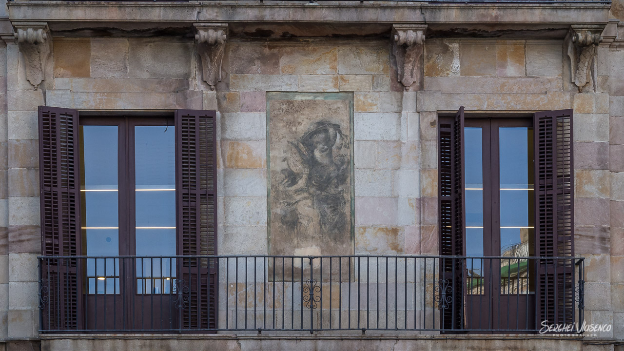 Fresco on a building in the city center